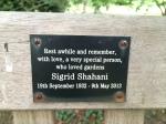 Bench at Sir Harold Hillier Gardens
